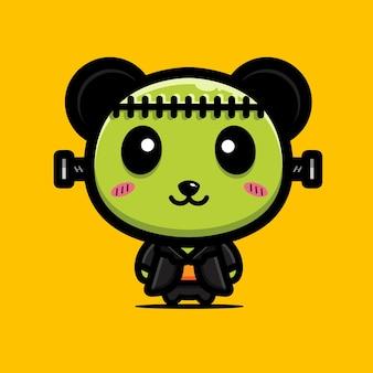 Süßes panda-frankenstein-design