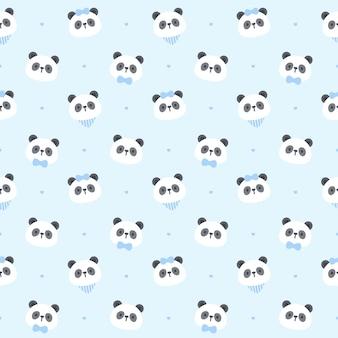 Süßes panda tragen nahtloses muster