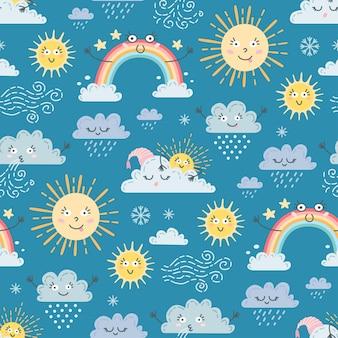 Süßes regenwettermuster