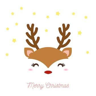 Süßes rentier zu weihnachten