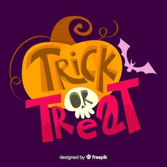 Süßes sonst gibt's saures halloween-beschriftungshintergrund
