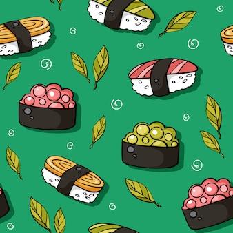 Süßes sushi mit lachs