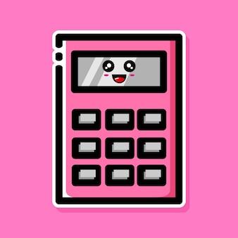 Süßes taschenrechner-cartoon-design