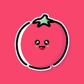 Süßes tomaten-cartoon-design