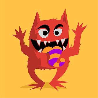 Süßes und lustiges monster
