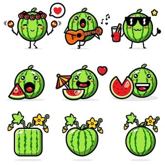 Süßes wassermelonenset