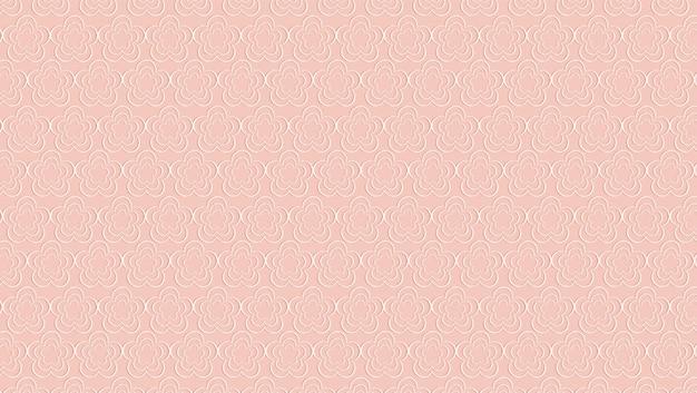 Süßes weißes blumenmuster auf rosa hintergrund