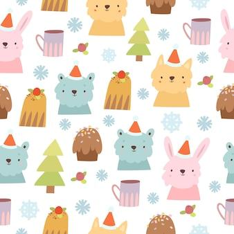 Süßes wintermuster