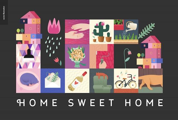 Süßes zuhause collage