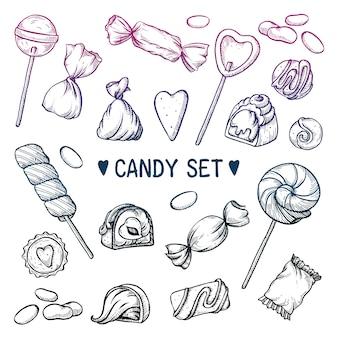 Süßigkeiten auf weiß gesetzt