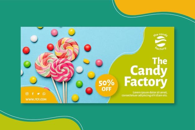 Süßigkeiten banner vorlage