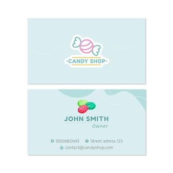Süßigkeiten doppelseitige visitenkarte h