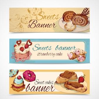 Süßigkeiten farbige banner