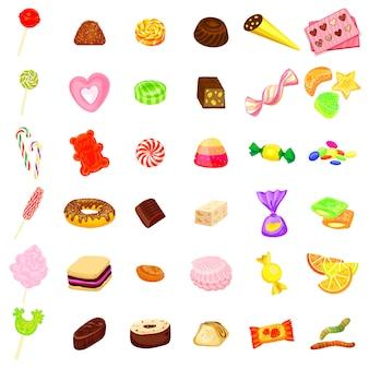 Süßigkeiten-icon-set