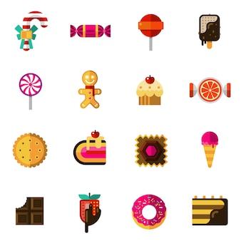 Süßigkeiten icons set