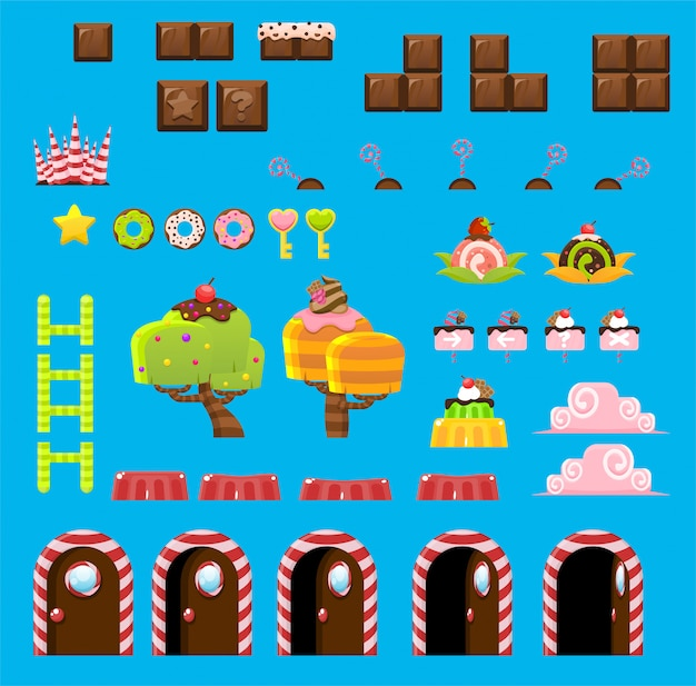 Süßigkeiten land spielobjekte