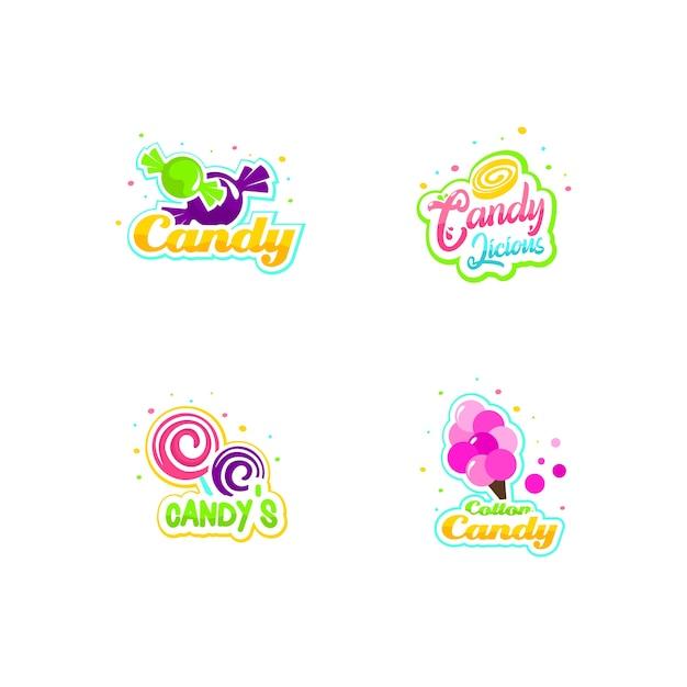 Süßigkeiten-logo-set