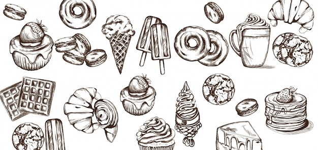 Süßigkeiten musterkollektion