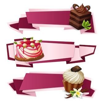 Süßigkeiten papier banner