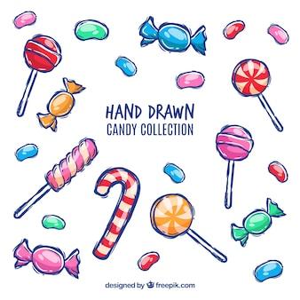 Süßigkeiten sammlung mit vielen farben