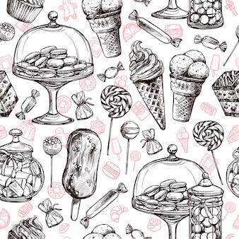Süßigkeiten seamless pattern