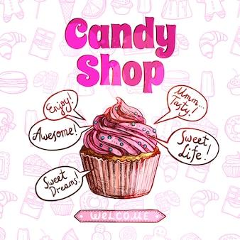 Süßigkeiten shop poster