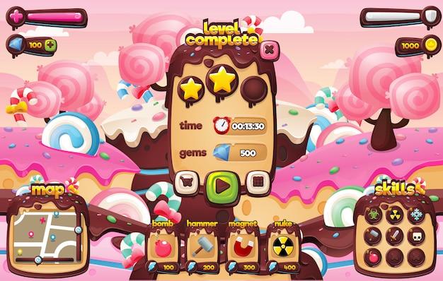 Süßigkeiten spiel gui