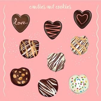 Süßigkeiten und plätzchen