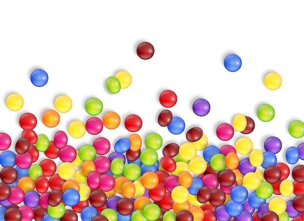 Süßigkeiten von süßigkeiten mit einem weißen hintergrund