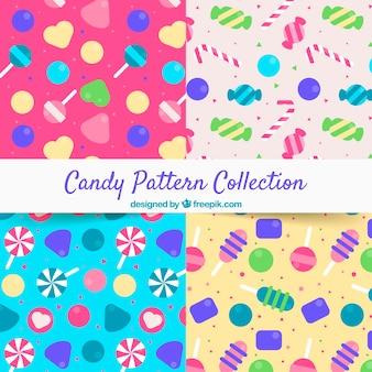 Süßigkeitsmustersammlung mit verschiedenen farben
