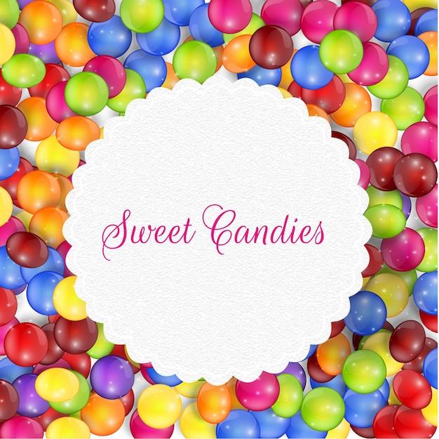 Süßigkeitsrahmen hintergrund