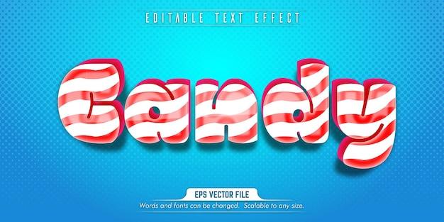 Süßigkeitstext, bearbeitbarer texteffekt im zuckerstil