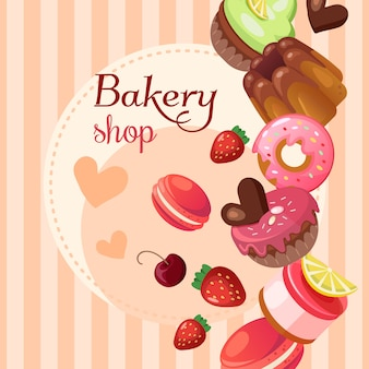 Süßwarenladen-hintergrundabbildung