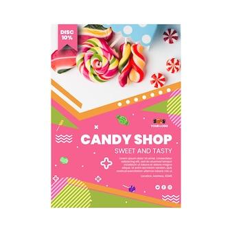 Süßwarenladen-plakatschablone