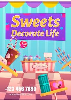 Süßwarenladenplakat