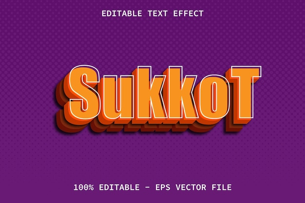 Sukkot mit bearbeitbarem texteffekt im modernen stil