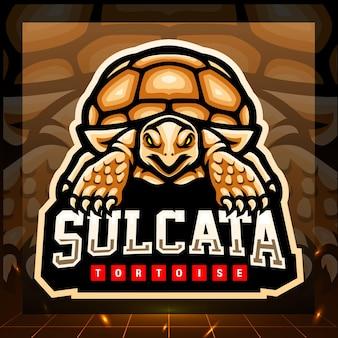 Sulcata schildkrötenmaskottchen