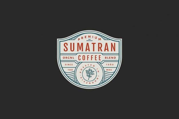 Sumatra premium kaffee kaffee farbe
