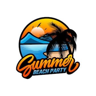Summer beach logo