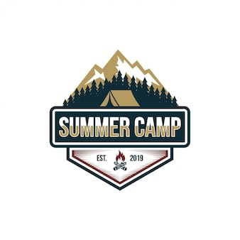 Summer camp vintage stock bilder