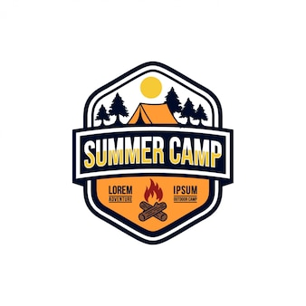 Summer camp vintage stock bilder