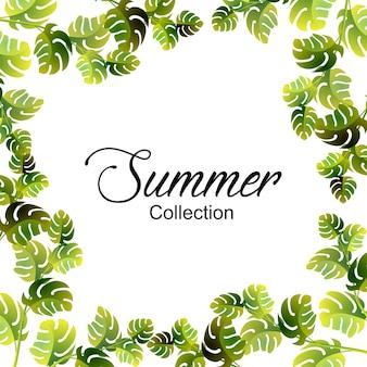 Summer floral frame - sommer-special mit floralem rahmendesign