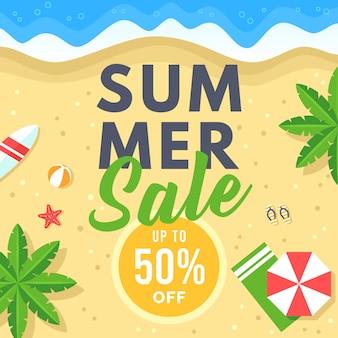 Summer sale banner für social media marketing