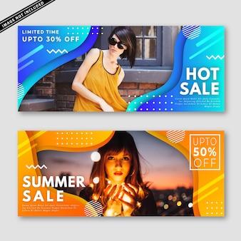 Summer sale banner kollektion