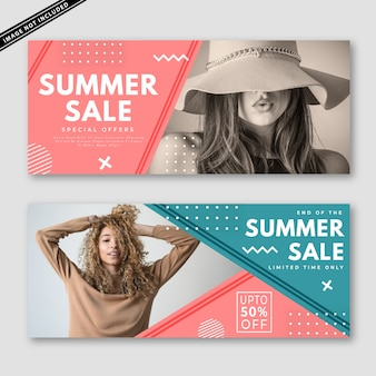 Summer sale banner kollektion