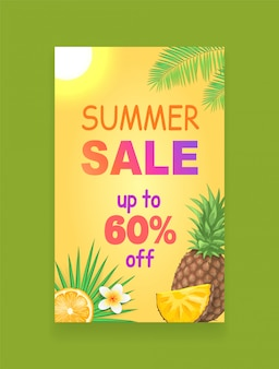 Summer sale banner promotion leaflet probe