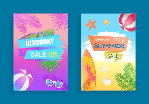 Summer sale banner promotion leaflet probe