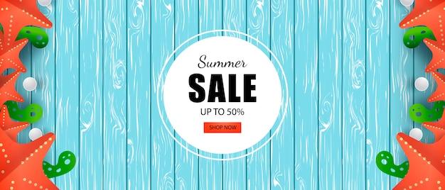 Summer sale banner sale bis zu 50% rabatt