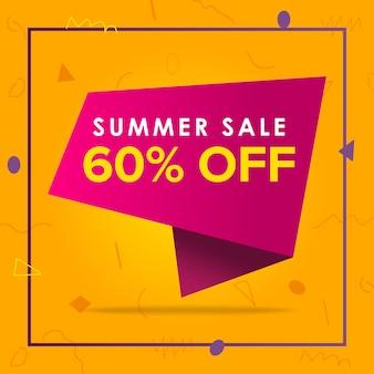 Summer sale bietet banner design