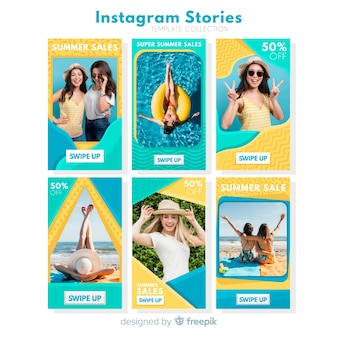 Summer sale instagram geschichten template pack